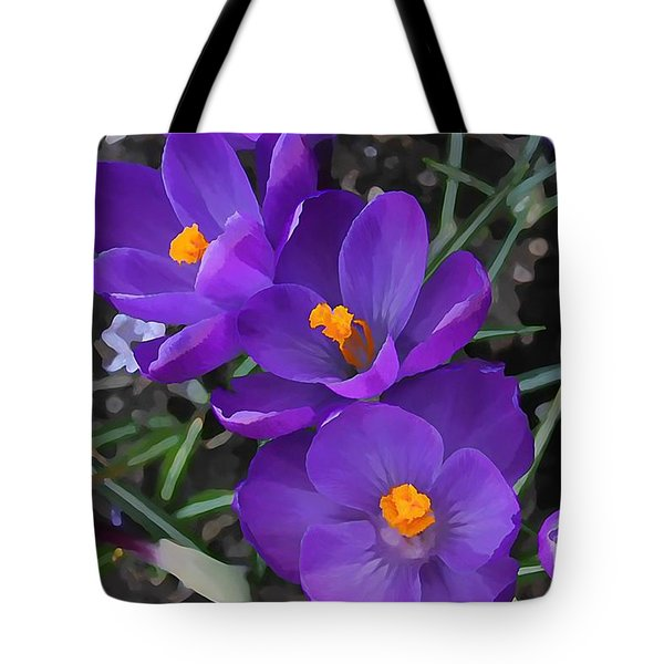 Soft Purple Crocus Tote Bag