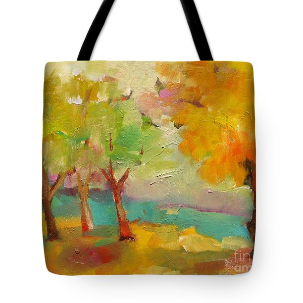 Soft Trees Tote Bag