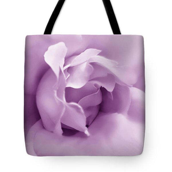 Soft Violet Rose Flower Tote Bag by Jennie Marie Schell