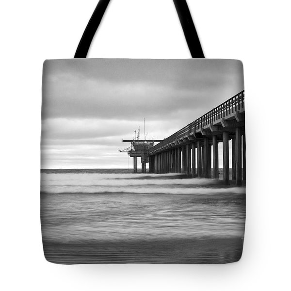 Soft Waves At Scripps Pier Tote Bag