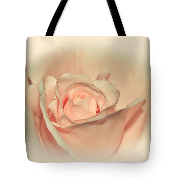 Softly Peach Tote Bag by Kaye Menner