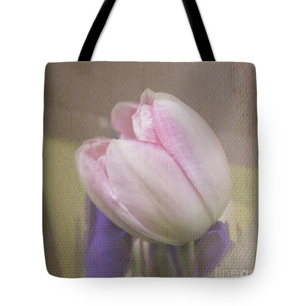 Softly Tulip Tote Bag by Arlene Carmel