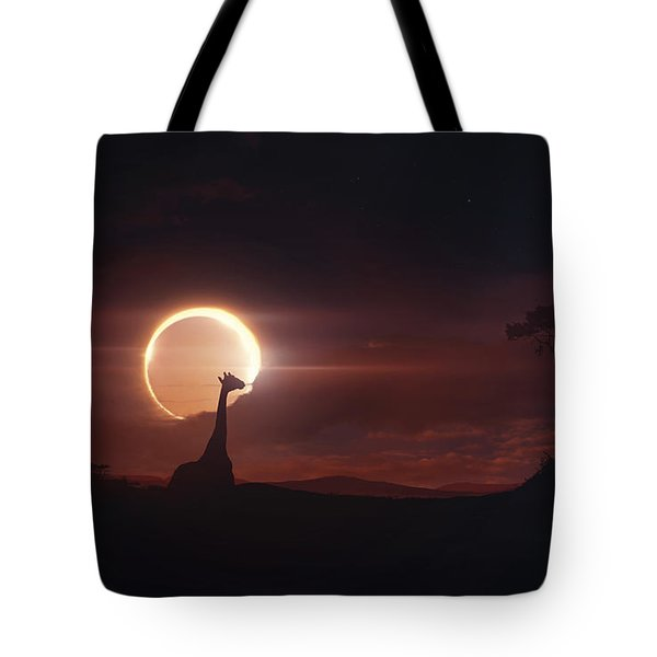 Solar Eclipse Over Africa Tote Bag by Tobias Roetsch