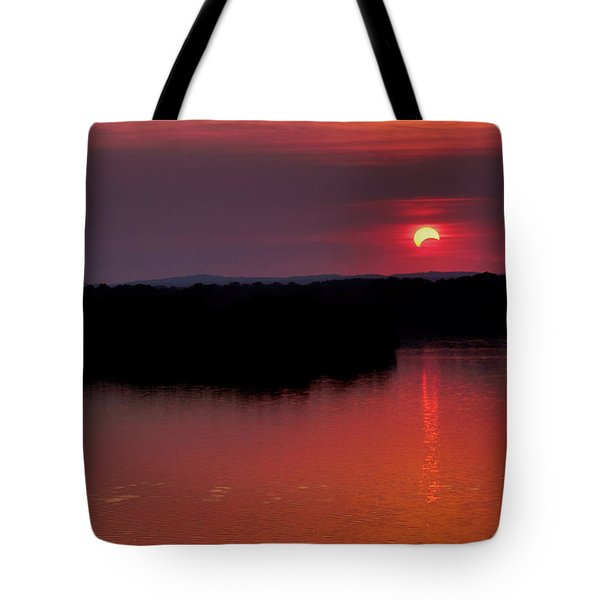 Solar Eclipse Sunset Tote Bag by Jason Politte