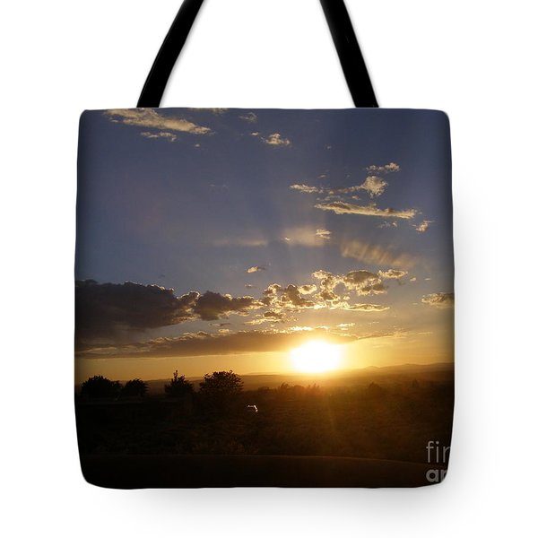 Solar Eclipse Sunset Tote Bag