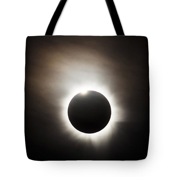 Solar Eclipse With Diamond Ring Effect Tote Bag by Philip Hart