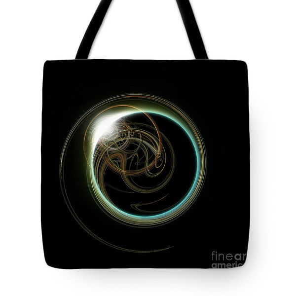 Solar Eclipse With Fractal Tote Bag by Antony McAulay