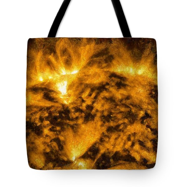 Solar Flare On The Sun Tote Bag