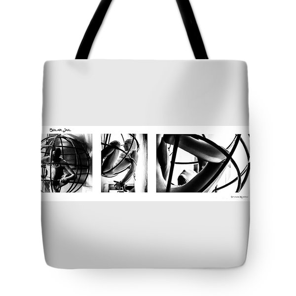 Tote Bag featuring the photograph Solar Jail Triptych by Stwayne Keubrick