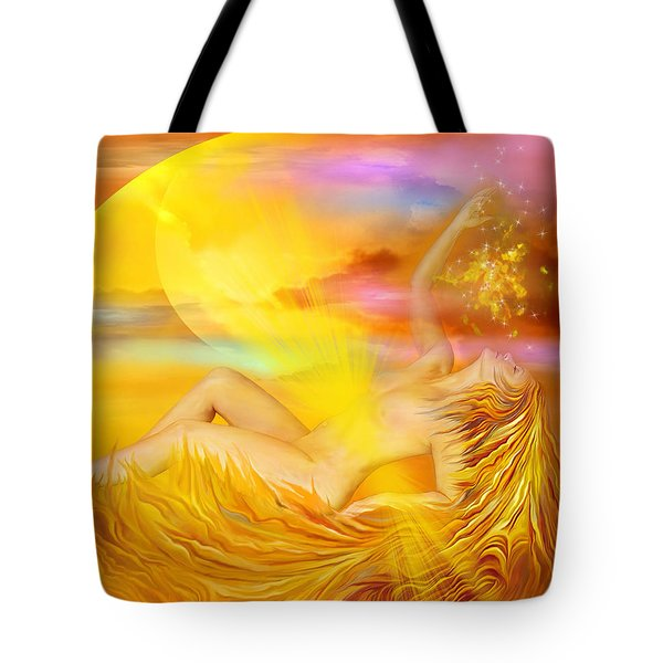 Solar Plexus Goddess Tote Bag by Carol Cavalaris