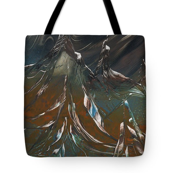 Tote Bag featuring the painting Solar Winds by Jason Girard