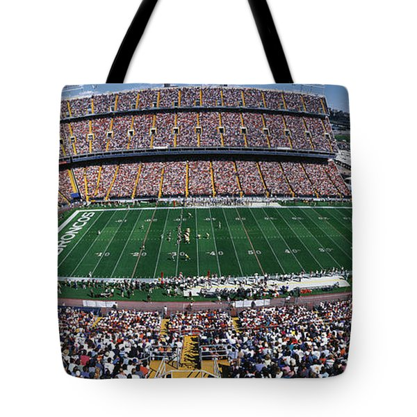 Sold Out Crowd At Mile High Stadium Tote Bag