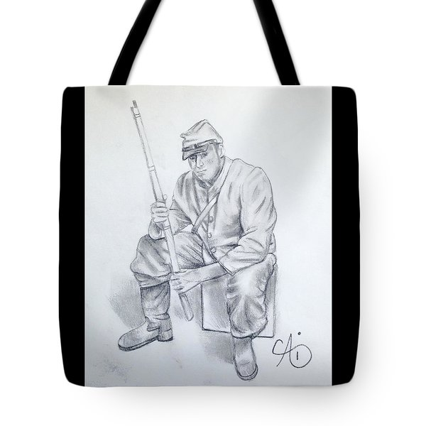Waiting Soldier Tote Bag