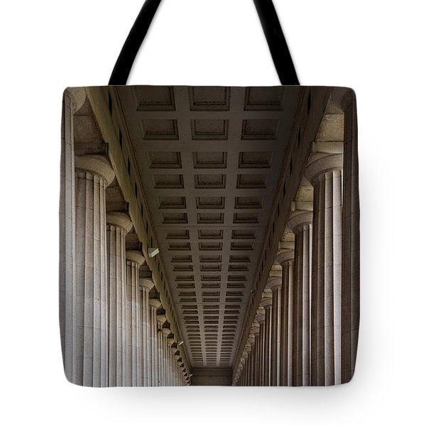 Soldier Field Colonnade Tote Bag by Steve Gadomski