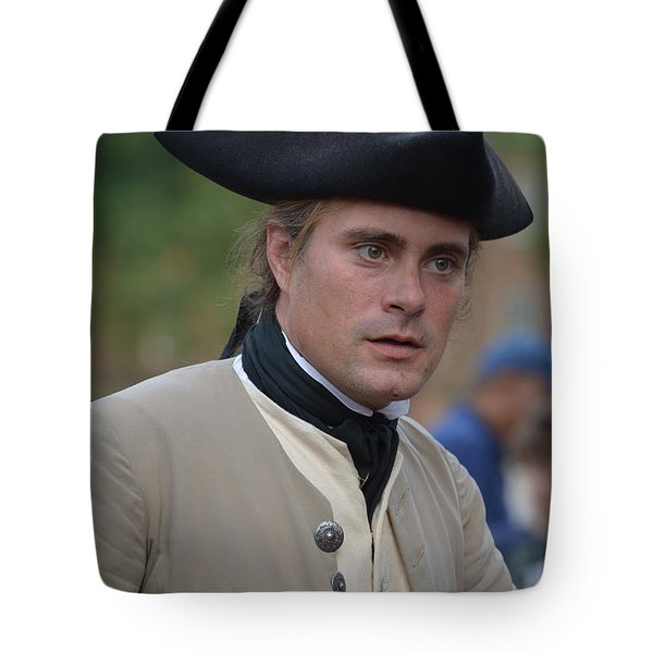 Soldier In Colonial Williamsburg Tote Bag