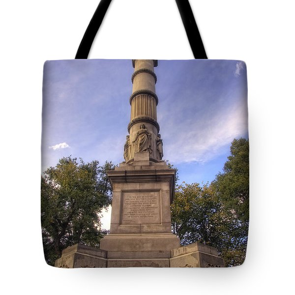 Soldiers And Sailors Monument - Boston Tote Bag by Joann Vitali