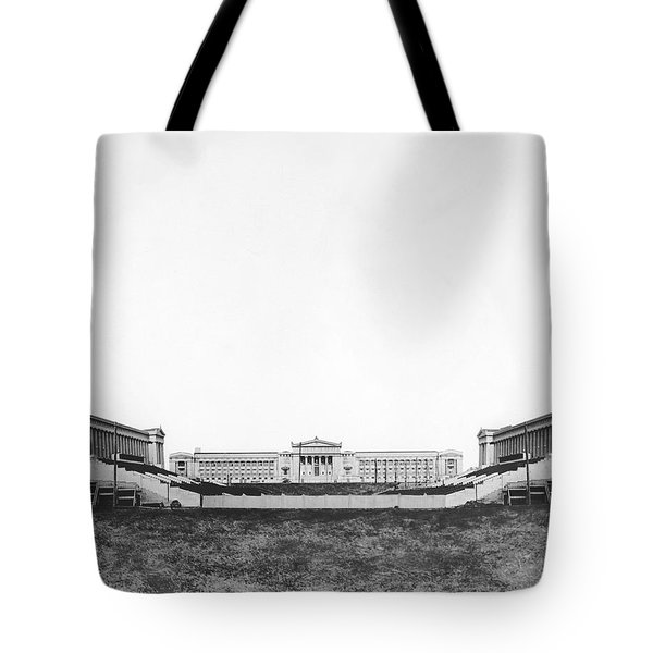 Soldiers' Field And Museum Tote Bag by Underwood Archives