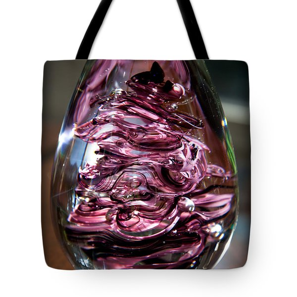 Solid Glass Sculpture E3 Tote Bag by David Patterson