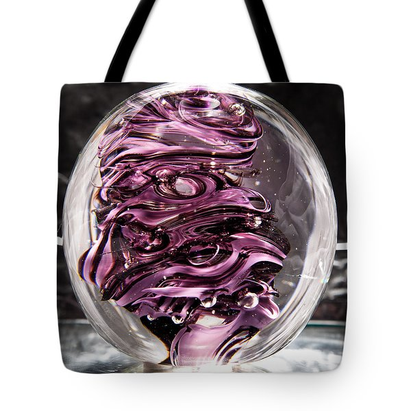 Solid Glass Sculpture Rp5 - Purple And White Tote Bag by David Patterson