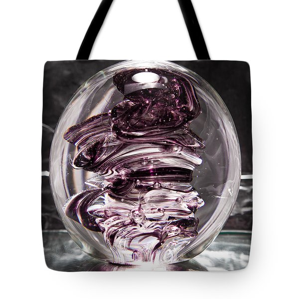 Solid Glass Sculpture Rpw Purple And White Tote Bag by David Patterson