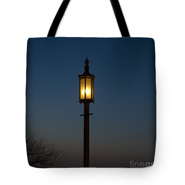 Solitary Gas Light Tote Bag by Tim Mulina