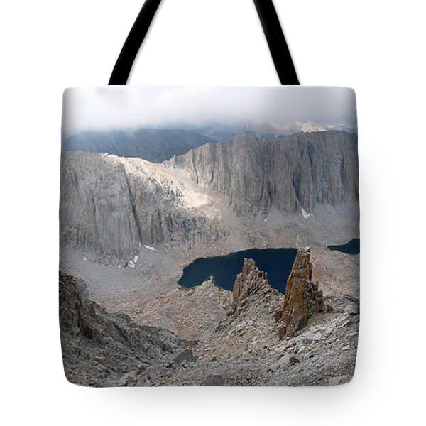 Solitary Hiker Panorama Tote Bag