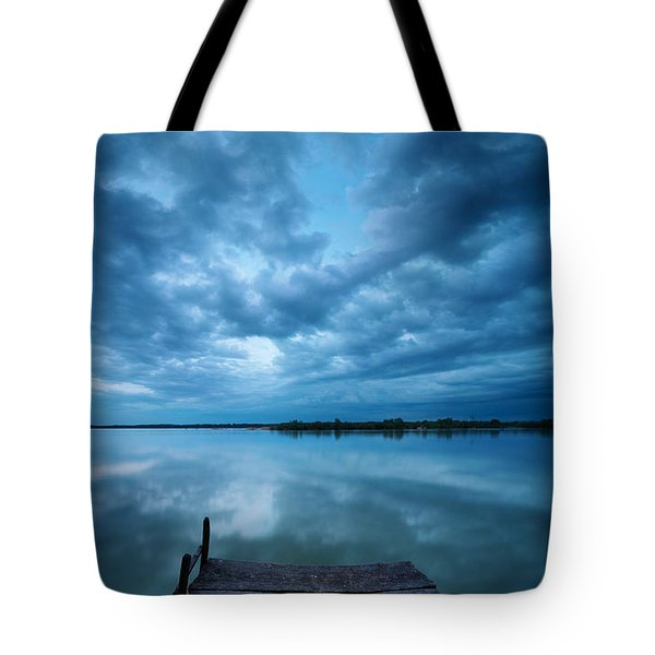 Solitary Pier Tote Bag by Davorin Mance