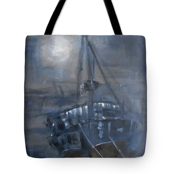 Tote Bag featuring the painting Solitude 4 by Jane  See