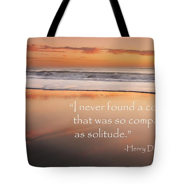 Solitude Tote Bag by Bill Wakeley