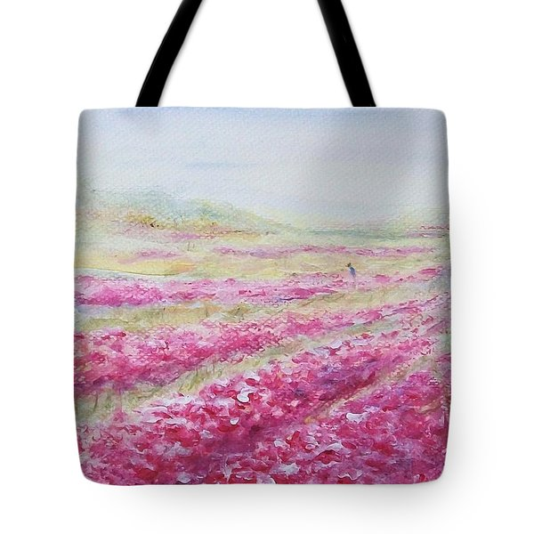 Tote Bag featuring the painting Solitude by Jane  See