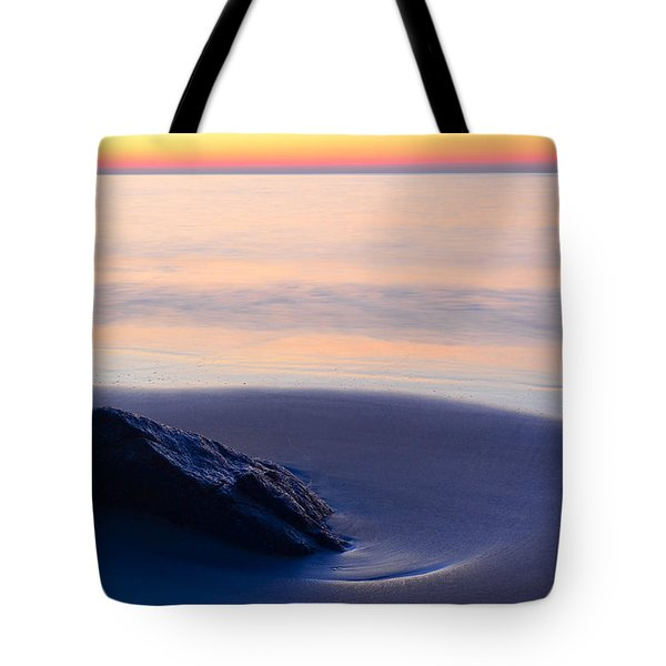 Tote Bag featuring the photograph Solitude Singing Beach by Michael Hubley