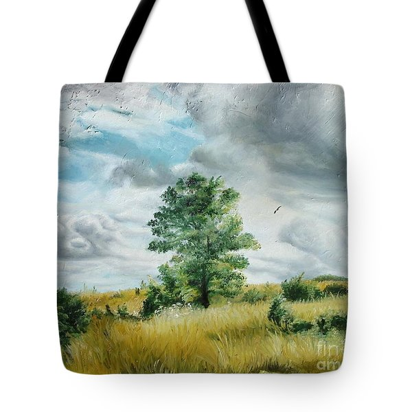 Tote Bag featuring the painting Solitude by Sorin Apostolescu