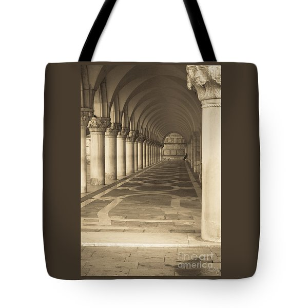 Solitude Under Palace Arches Tote Bag
