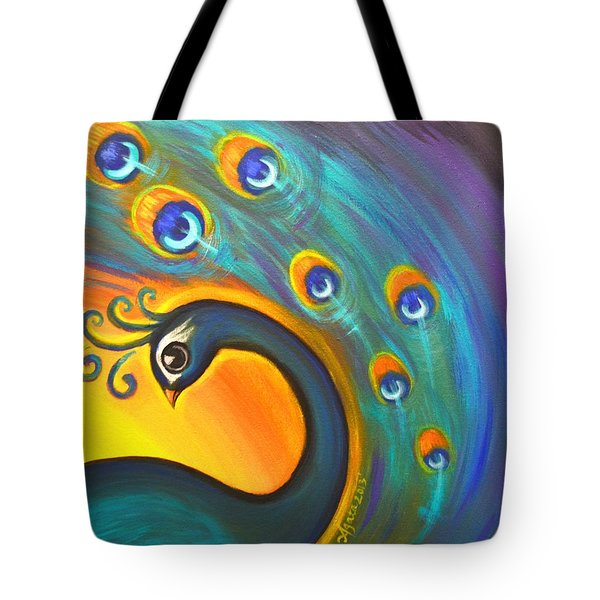 Tote Bag featuring the painting Solo Dance Vortex by Agata Lindquist