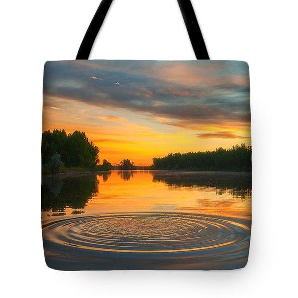 Solstice Ripples Tote Bag
