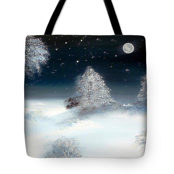 Solstice Snowfall I Tote Bag by Alys Caviness-Gober