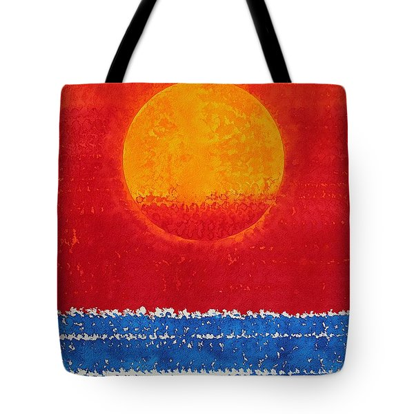 Solstice Sunrise Original Painting Sold Tote Bag