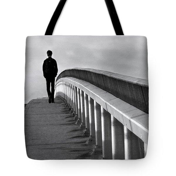 Somber Stroll Tote Bag