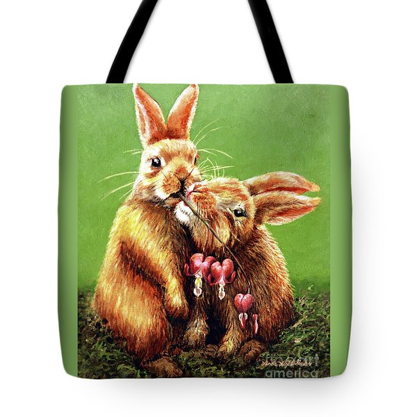 Some Bunny Loves You Tote Bag by Linda Simon