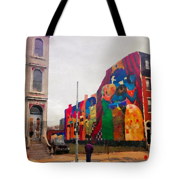 Some Color In Philly Tote Bag