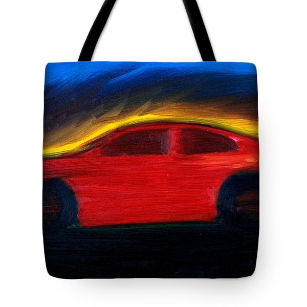 Tote Bag featuring the painting Some Have Seen The Air by Stacy C Bottoms