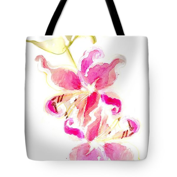 Someone Left Flowers Outside My Door Tote Bag by Carolyn Weltman
