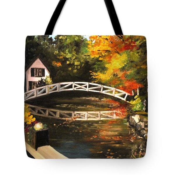 Somesville Maine Footbridge Tote Bag
