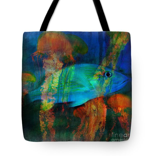 Something Fishy Tote Bag by Erika Weber
