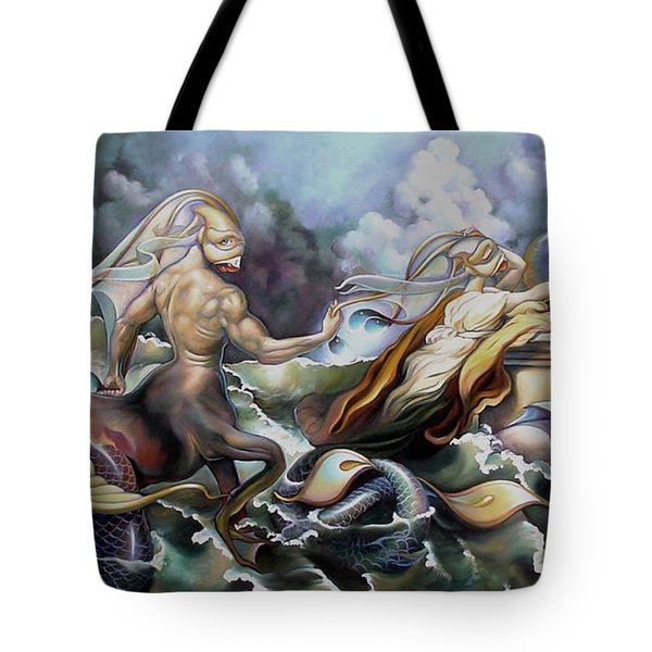 Something Fowl Afloat Redux Tote Bag by Patrick Anthony Pierson