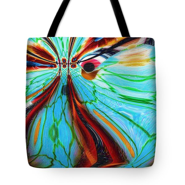 Something Is Watching Me Tote Bag by Alec Drake