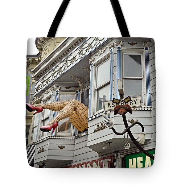 Something To Find Only The In The Haight Ashbury Tote Bag by Jim Fitzpatrick