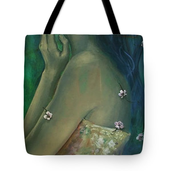 Sometimes I Feel So Temporary... Tote Bag by Dorina  Costras