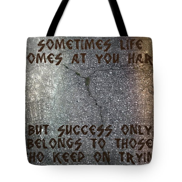 Tote Bag featuring the digital art Sometimes Life Comes At You Hard by Absinthe Art By Michelle LeAnn Scott