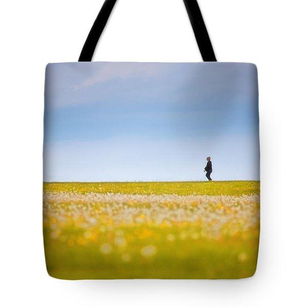 Sometimes We All Walk Alone Tote Bag by Karol Livote